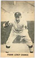 1961 Wrigley Field Exhibits of Frank Chance HOF, New York Yankees, EX-EX/MT