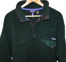 Vintage 1990's Patagonia Synchilla Men's Green Snap-T Pullover Fleece Jacket XL