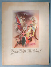 1939 Gone With The Wind Original Movie Souvenir Program Vivien Leigh Clark Gable