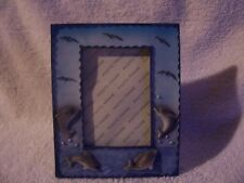 """Picture Frame With Dolphins and Birds  - Picture size 3"""" x 4-1/4""""    Desktop"""