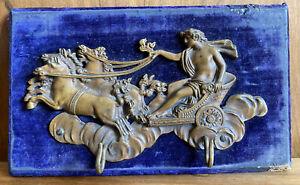 plaque décor ornement bronze empire pour meuble ancien Crochet Clef Char Romain
