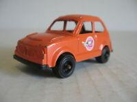 Vintage Tootsietoy Orange Honda Civic Die Cast & Plastic - NO INTERIOR