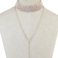 Fashion Crystal Necklace Jewelry Statement Bib Pendant Charm Chain Choker Chunky