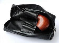 Custodia portapipe in pelle tascabile per pipa tasca porta tabacco scovoli pipe