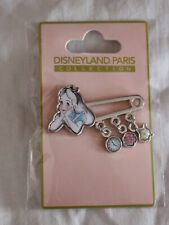 Disney Pin Alice In Wonderland Safety Pin Dangle Disneyland Paris DLP DLPR