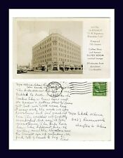 CALIFORNIA HOTEL GLENDALE REAL PHOTO 14 NOV 1947 TO EDITH KLINE, DAYTON, OHIO