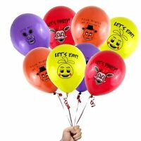 "12PCS Five Nights at Freddy's 12"" Colorful FNAF Printed Latex Party Balloons."