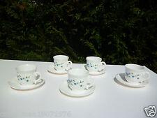 ☺ Service à Café Arcopal 5 Tasses Et 5 Sous -Tasses Vintage