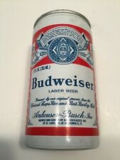 New listing Vintage Budweiser aluminum beer can with pull tab bottom open