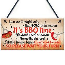 BBQ Novelty Garden Sign SummerHouse Bar Man Cave Shed Plaque Friendship Gift