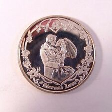 Fine 999 Silver Coin Wedding Anniversary Gift Eternal Love space for own design