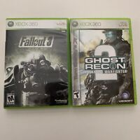 Lot Of 2 Games Ghost Recon 2 And Fallout 3 Microsoft Xbox 360