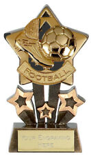 FOOTBALL Soccer Gold Star Trophy FREE ENGRAVING Personalised Engraved Award NEW