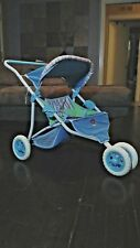 Bitty Baby Twin Stroller Authentic American Girl Retired Doll Flowers Double Set