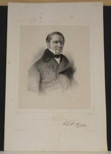 FRIEDERICH GEORG WILHELM VON STRUVE RUSSIA 1842 LLANTA ANTIQUE PORTRAIT