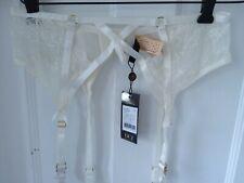 Dita Von Teese Ladies Madame X Garter Suspender Belt ivory Size 12  D46945