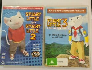 Stuart Little Collection 1, 2, 3 Trilogy (DVD 2 DVD, 3 Set) Excellent Condition.
