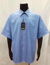 Forsyth of Canada, Inc. Men's Wrinkle Free Short Sleeve Shirt, Blue, 18.5 34-35