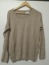 FABULOUS JEANS WEST JUMPER BEIGE AND GOLD  SIZE M VGC