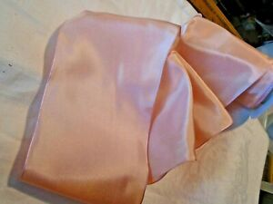 """5"""" wide - FRENCH WIRED  TAFFETA RIBBON - BISQUE PINK  -  by the yard"""