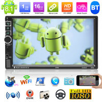 "Android8.1 WiFi 2DIN 7"" Touchscreen GPS Navi Auto Stereo MP5 Spieler AM FM Radio"