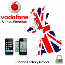UNLOCK VODAFONE UK iPhone 3G/3GS/4G/4S/5/5S/5C/6 CLEAN IMEI