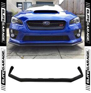 Front Spoiler Lip FOR Subaru WRX STI VA (14-17) Matte Black OE Style