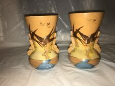 Clarice Cliff Style 1930s Brentleigh Ware Pair Of Art Deco/monkton Vintage