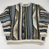 Vintage Cotton Traders 90's Coogi Style Textured Cosby Sweater Pullover Size XLT