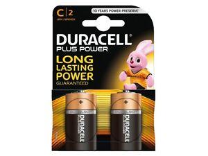 2 x Duracell C 1.5v Alkaline Battery Batteries C 2 MN1400 LR14