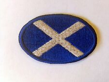 Iron On/ Sew On Embroidered Patch Badge Flag Scotland Scottish Ecoss Mini Oval