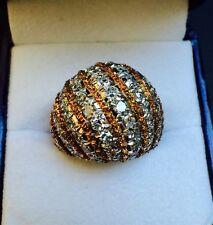 BUCCELLATI 18k Two Tone Gold Diamond Dome Ring