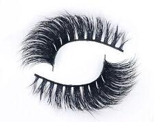 1 Pair 100% Siberian Mink Fur Luxurious 3D False Eyelashes Fake Eye Lashes D09