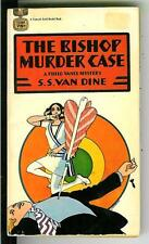 THE BISHOP MURDER CASE by van Dine, rare US Gold Medal crime pulp vintage pb