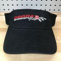 Dodge Motorsports Ram Logo NASCAR Licensed Black Visor NOS with Tags New Hat Cap