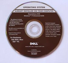 Reinstallation DVD MS Windows 7 Professional 32-Bit Dell integrierter Key