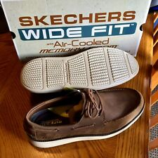 NEW Mens Status 2.0 Oiled Leather Boat Shoes Brown Size 12 WIDE