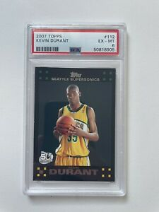 2007 Kevin Durant Topps Rookie Card #112 Black PSA 6