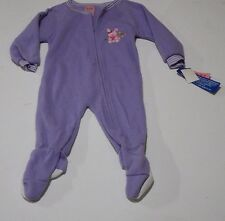 Carter's Pink One-Piece Sleepwear w/ Emrbroidered Pink Bear Girl's 24M