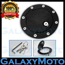 99-10 Ford Super Duty F250 F350 Black Replacement Billet Gas Door Cover Lock+Key