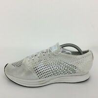 Nike Flyknit Racer White Mesh Sport Trainer Sneaker 526628-100 Men UK 8 Eur 42.5