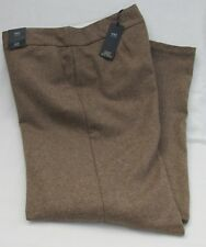 M&s Taupe Wide Leg Wool Silk Cashmere Trousers Size 18l 18 L Long RP