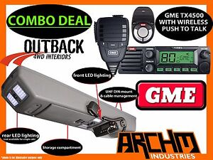 GREAT WALL V240 OVERHEAD ROOF CONSOLE & GME TX4500WS UHF RADIO