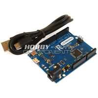HOBBY COMPONENTS Arduino compatible Revision 3 R3 Leonardo - with Free USB Cable