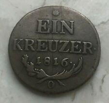 1816 O Austria 1 One Kreuzer