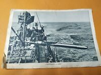 Postkarte 2.WW Feldpost Torpedoboot Torpedo - Los!  1941 gelaufen