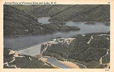 Postcard NC Fontana Dam And Lake Fontana Village Vintage North Carolina PC