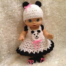 Handmade Clothes For  Baby Alive 13 Inch Doll's,Wet & Wiggles Dolls. Panda Set