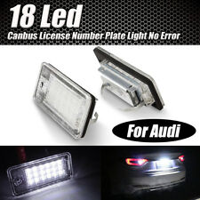 2pcs 18 LED Error Free License Plate Light For Audi A3 A4  B6 B7 S3 Q7 RS4