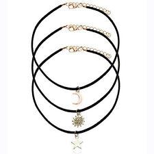 Necklaces alloy Pendants Maxi chains Necklace 3 Pcs Sets Star Moon Sun Chokers